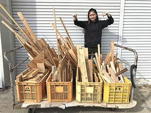 淡路島工房で家具製作の際に出た端材を無料でお譲り アイキャッチ