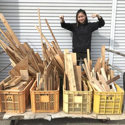 淡路島工房オニオンベースで家具製作の際に出た端材をお譲りします