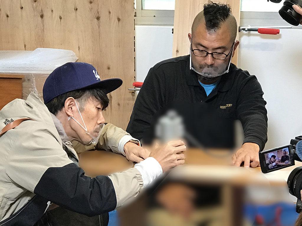 トータルテンボス大村さんの家具リメイクDIYを『家具作りたいおっさん』がサポート