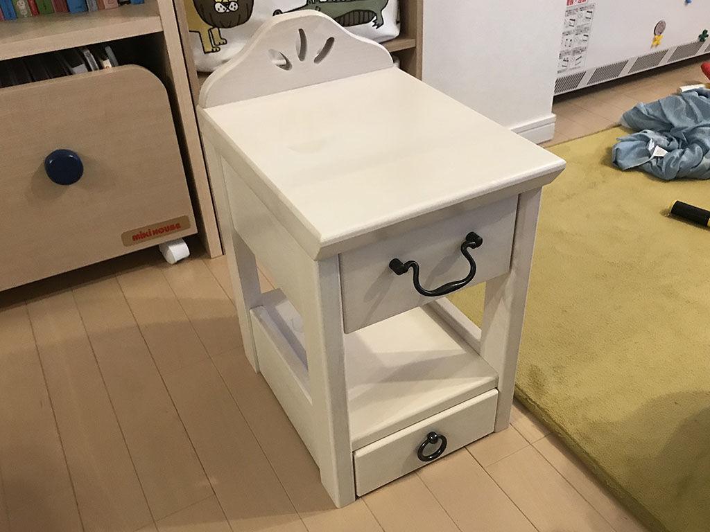 学習机をリメイクしてお客様宅に納品させていただいた小引き出し