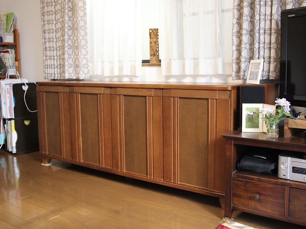こだわりのサイズで製作しお部屋のインテリアとも相性バッチリのリビングボード
