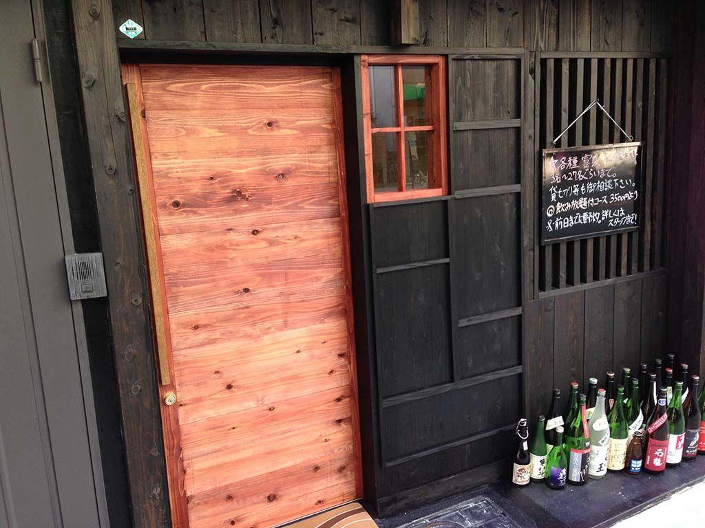 飲食店の入り口ドア 家具オーダーメイド事例:M011