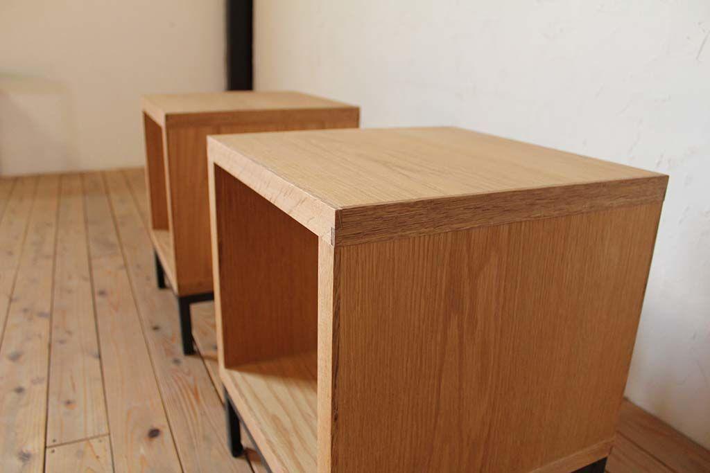 オーク材のナチュラルオイル仕上げのテーブル