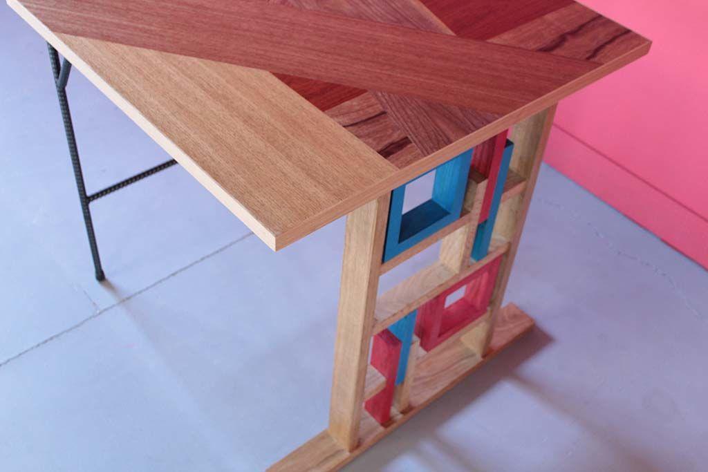 個性的な店舗テーブルモザイク天板