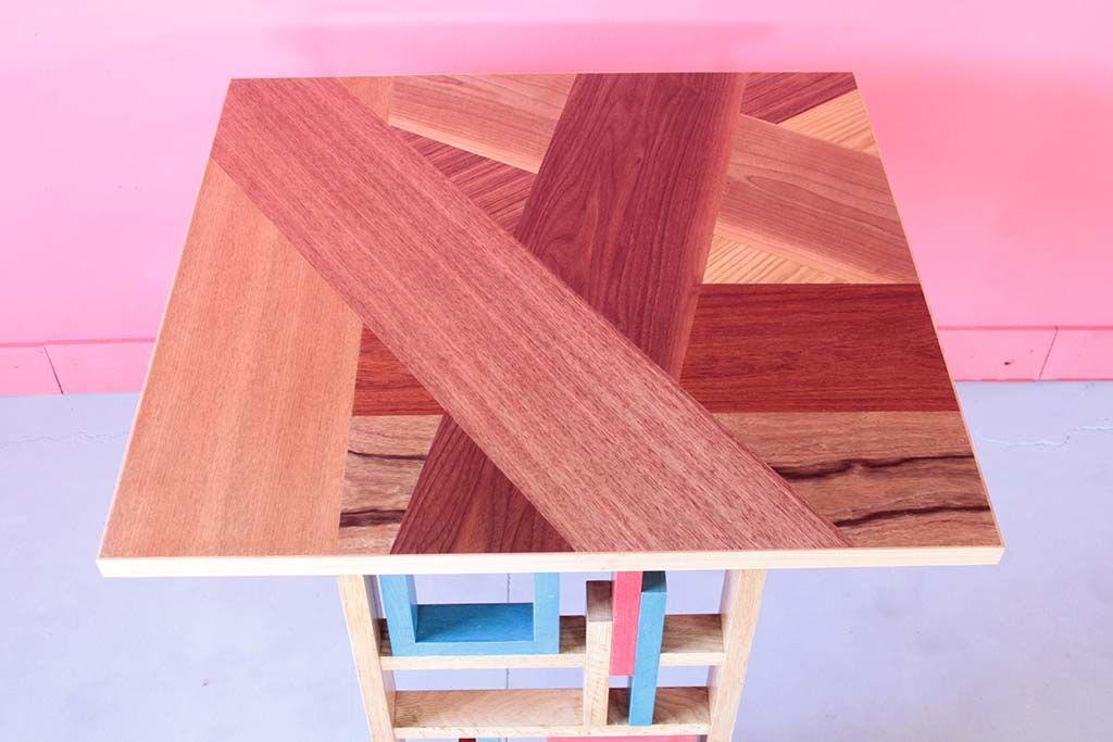 カラフル脚のツギハギ天板テーブル/和鮮酒庵やなぎ様オーダーメイド事例:M058