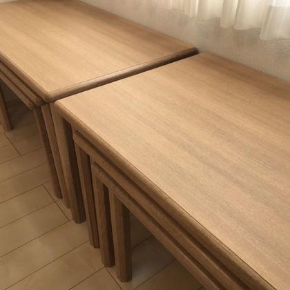 3サイズのナチュラルネストテーブルオーダーメイド事例:M059