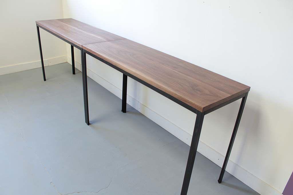 無垢ウォールナット材アイアン脚ダイニングテーブル