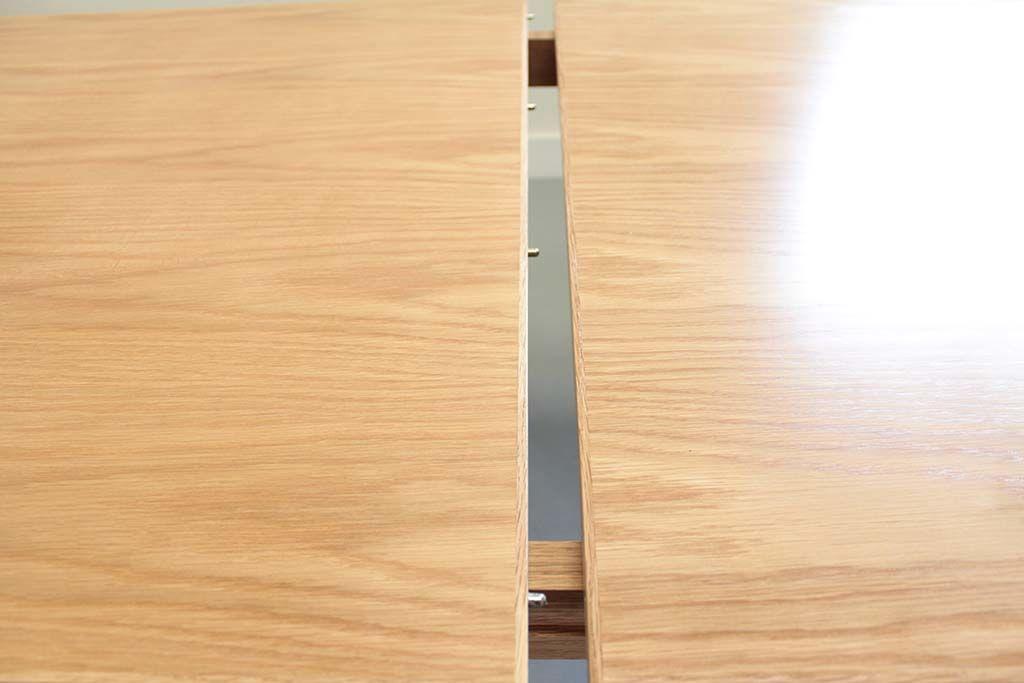 伸縮テーブル天板ダボ結合部分