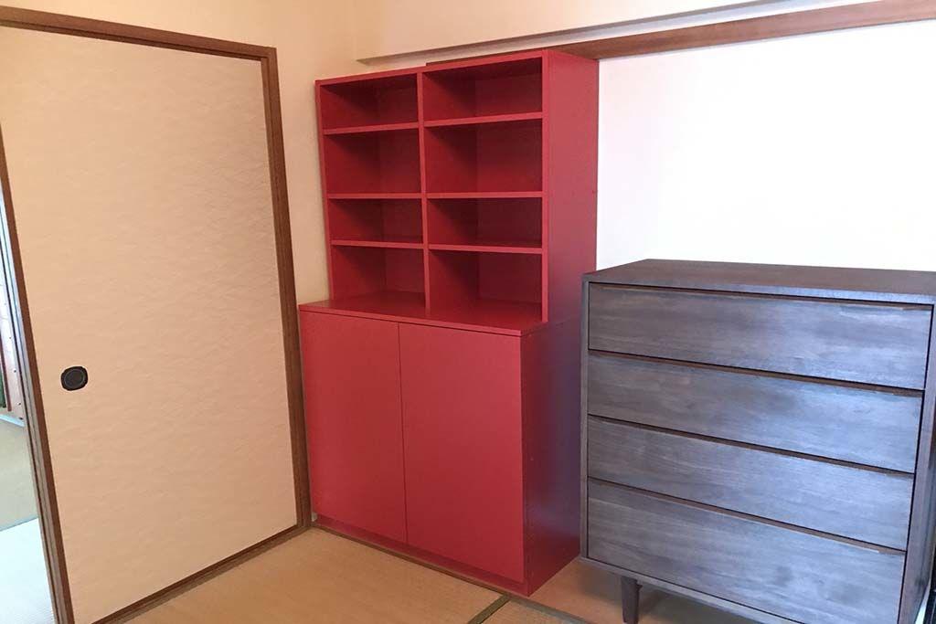真っ赤な本棚オーダーメイド事例:M070