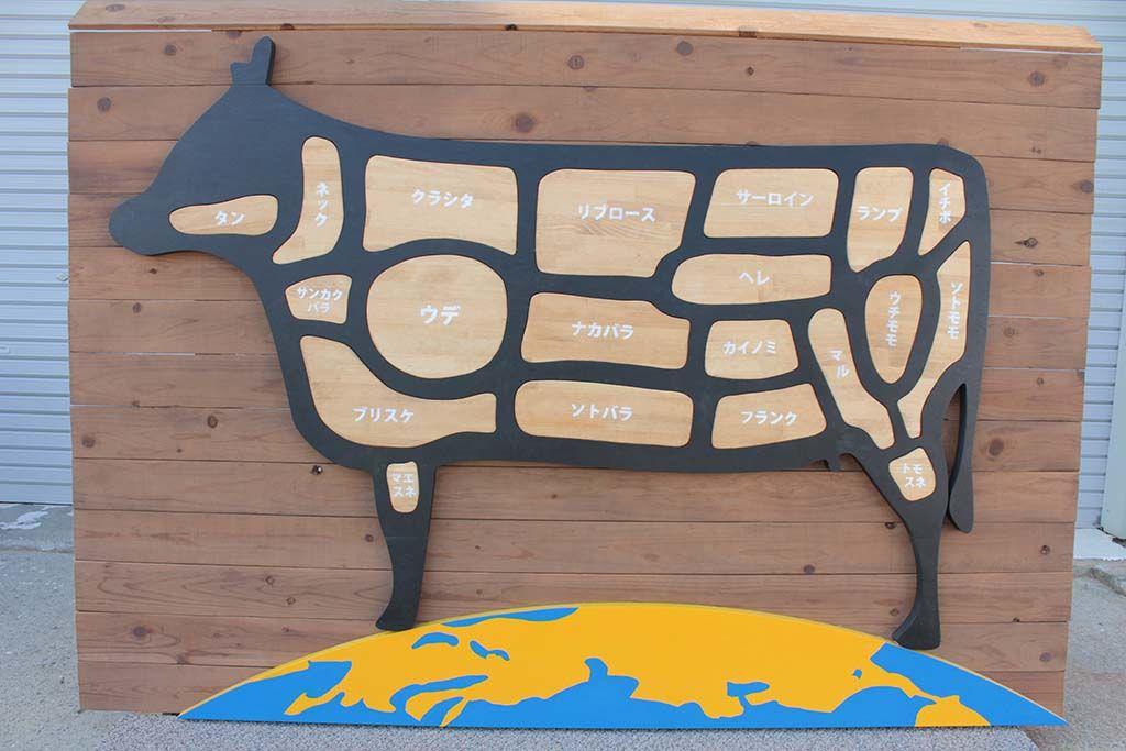 牛肉部位は全てパズルで取り外し取り付け可能