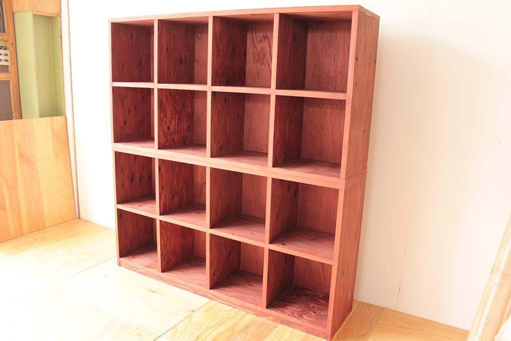 設置場所とレコードサイズに合わせたオープンレコード棚