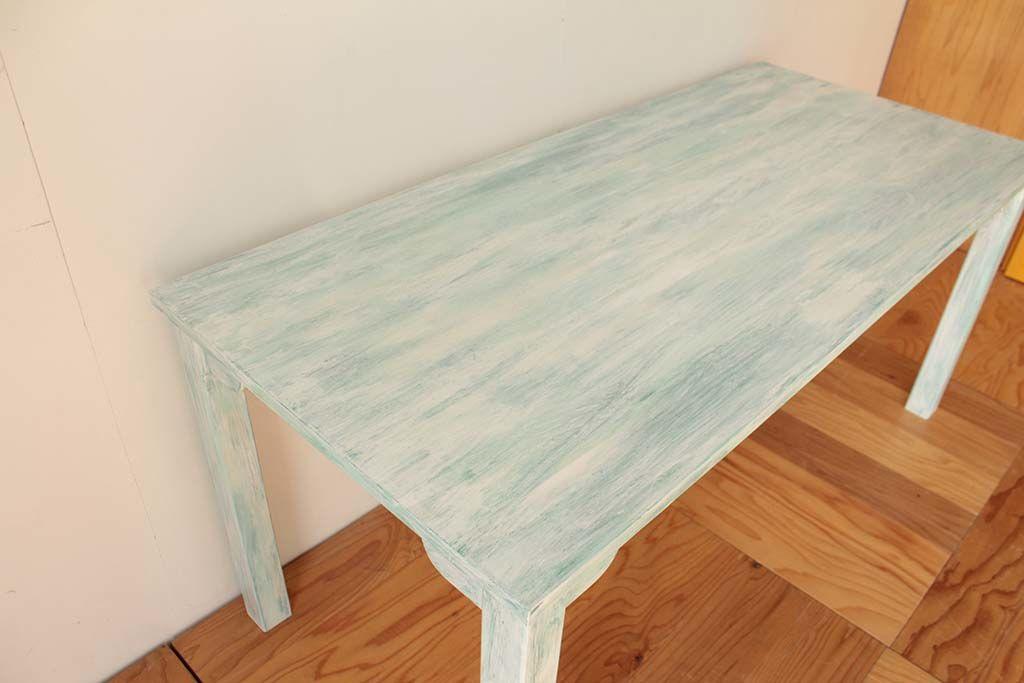 店舗用白色シャビー加工テーブル天板