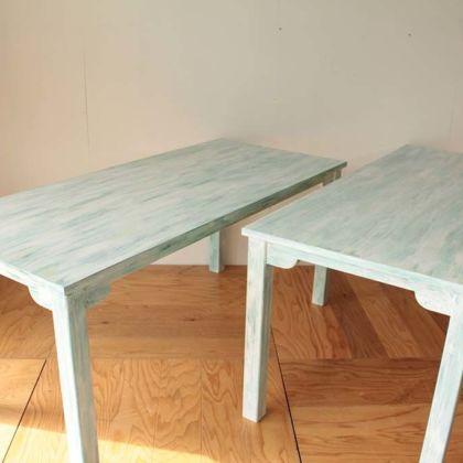 シャビー加工の飲食店店舗用テーブルオーダーメイド事例:M085