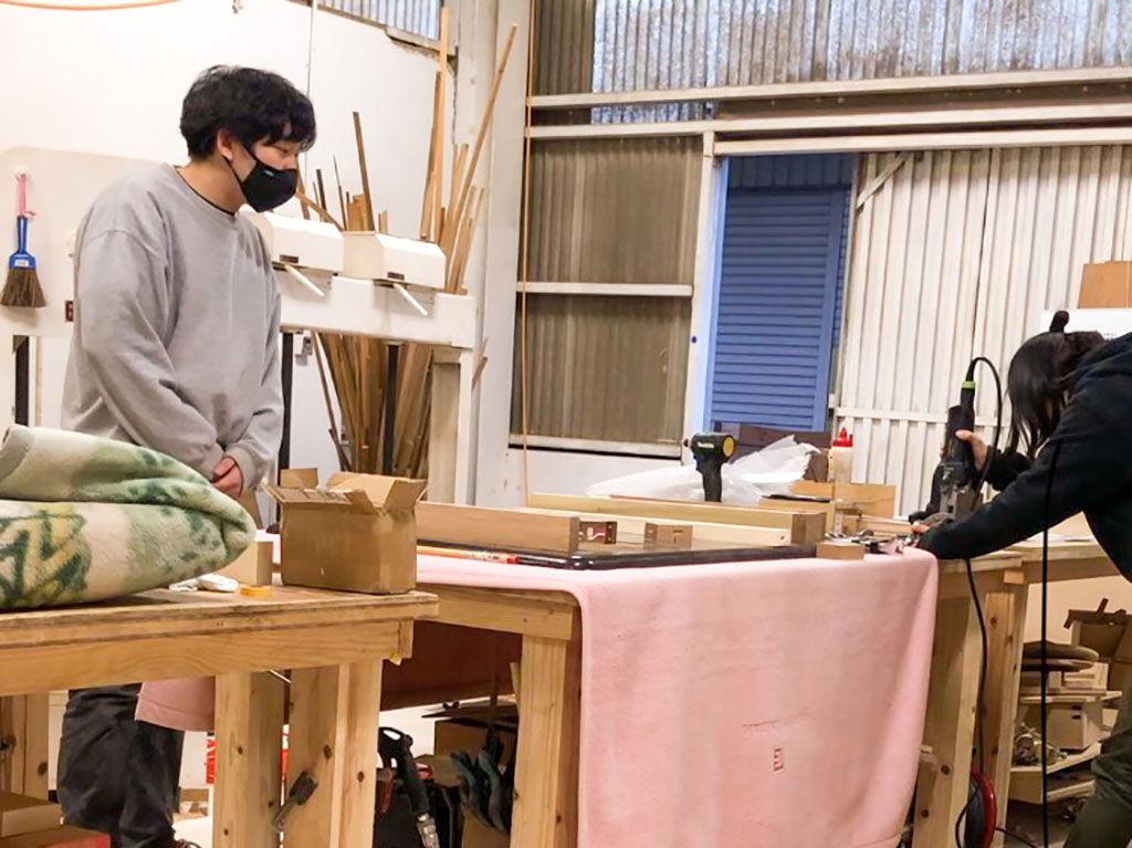 淡路島工房オニオンベースで家具の製作やリメイクについて学ぶ福井