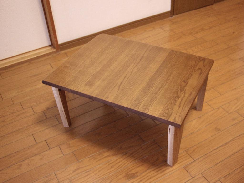 お客様宅に納品した学習机からリメイクしたコーヒーテーブル
