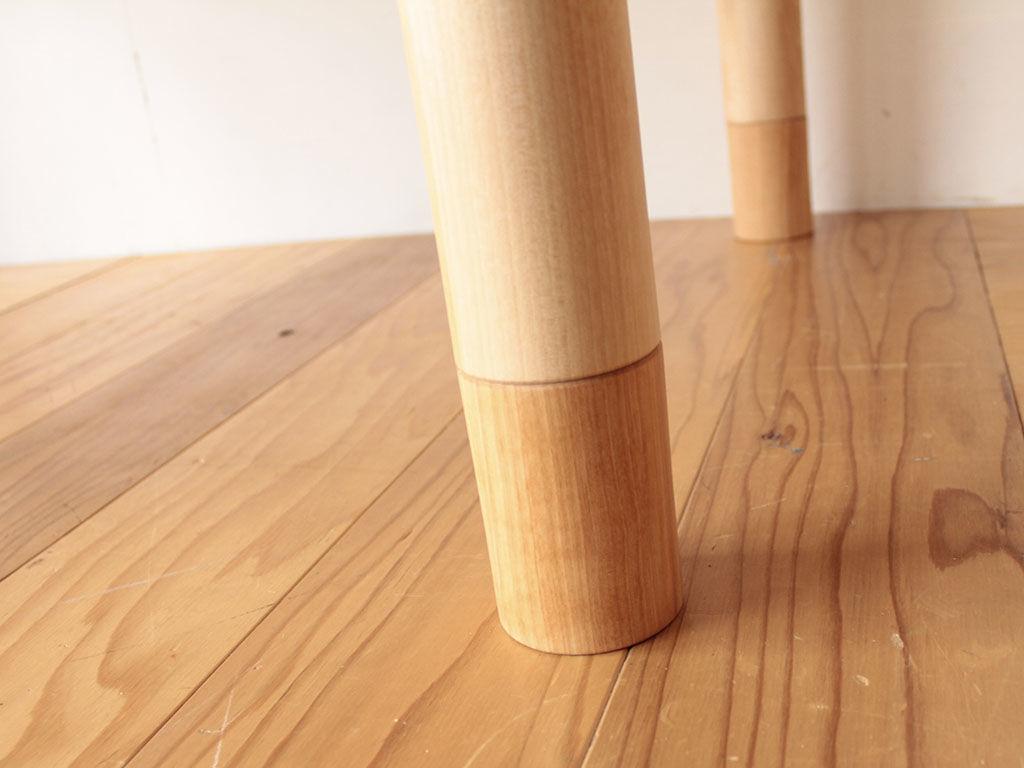 ねじ込み式で簡単に延長できるテーブル脚