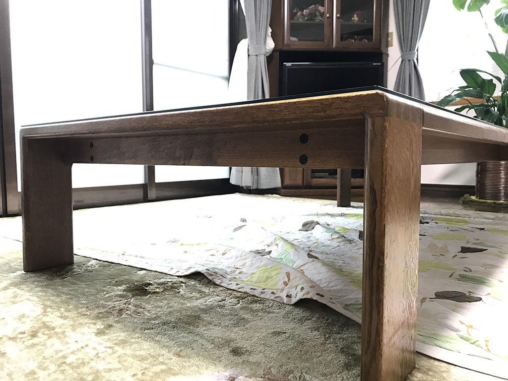 リメイクのご依頼をいただいた座卓の天板裏