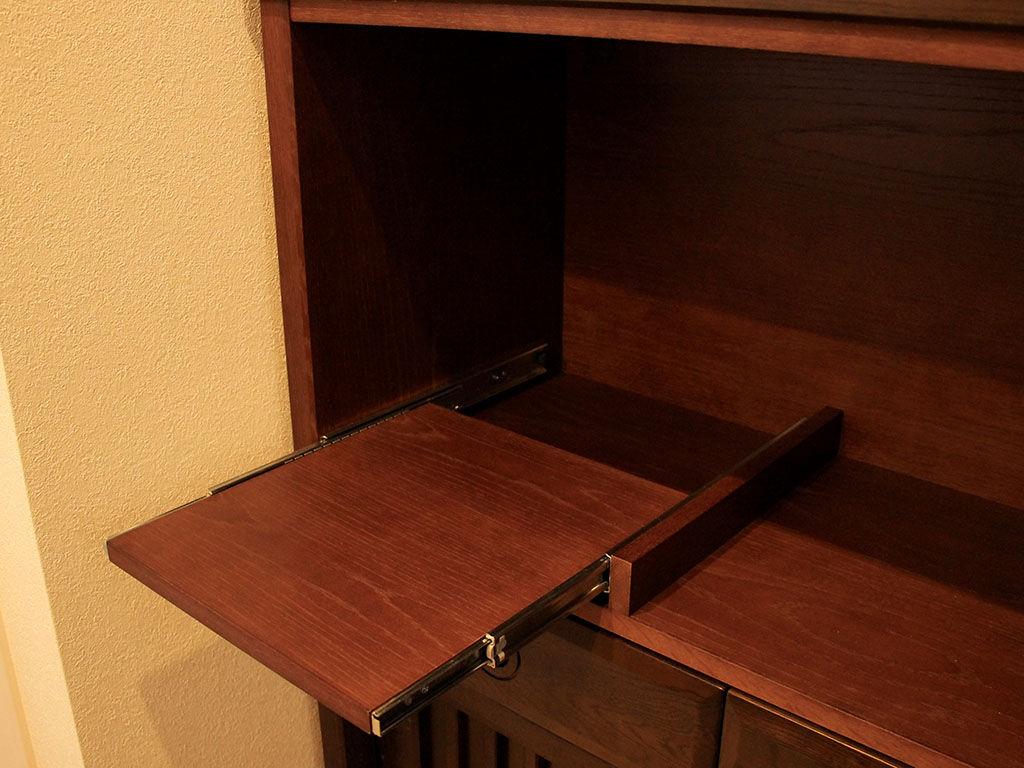 炊飯器を置くのに便利なスライド棚