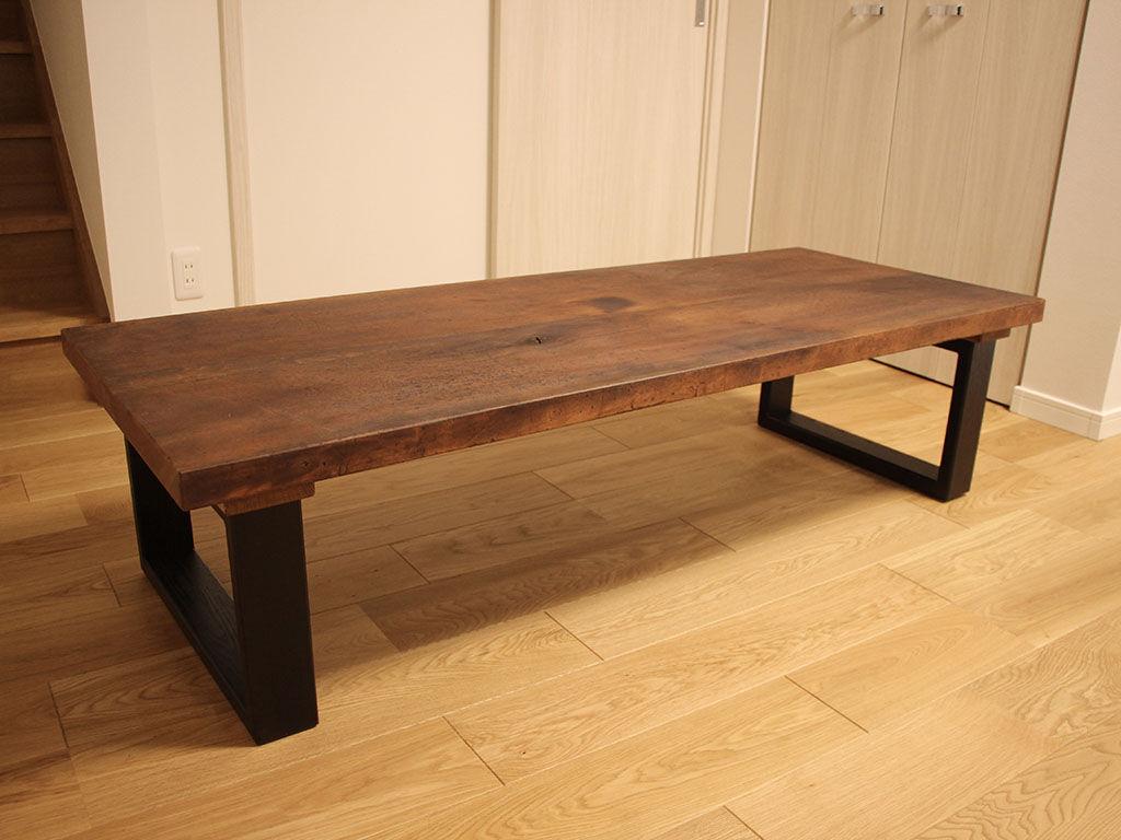 お客様のお母様の形見からリメイクしたローテーブル