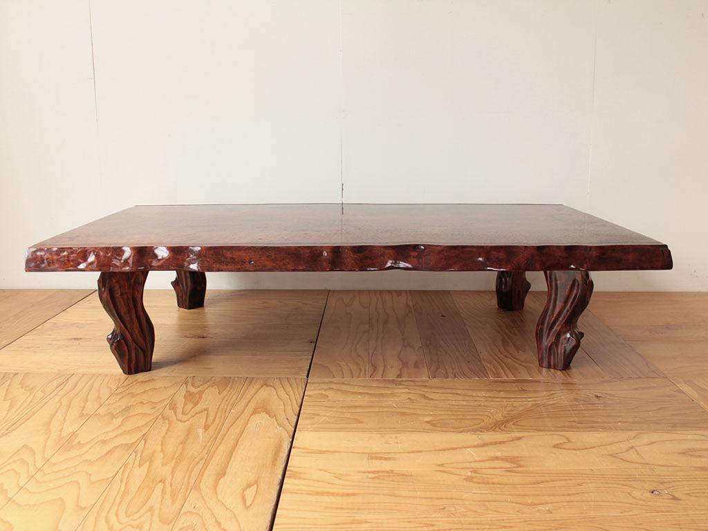 一枚板の座卓天板を生かしてダイニングテーブルにリメイク ビフォー