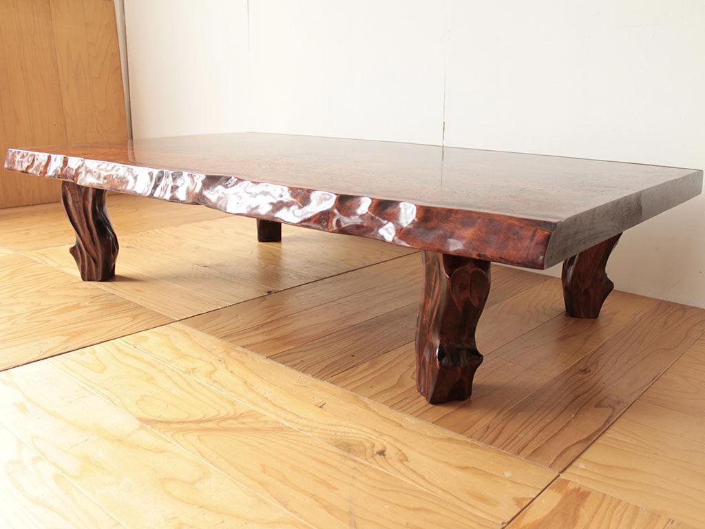 ダイニングテーブルへのリメイクのご依頼をいただいた座卓