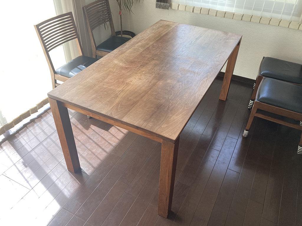 レストアのご相談をいただいたダイニングテーブル