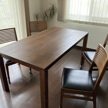 レストアしたダイニングテーブルをお客様宅に納品