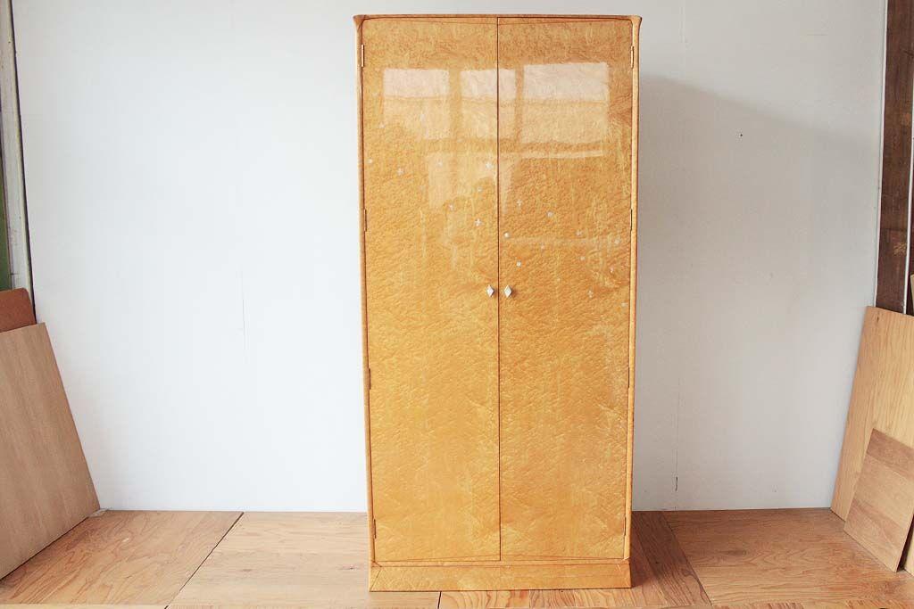 婚礼家具バーズアイメープル4枚扉クローゼットを2枚扉へリサイズリメイク