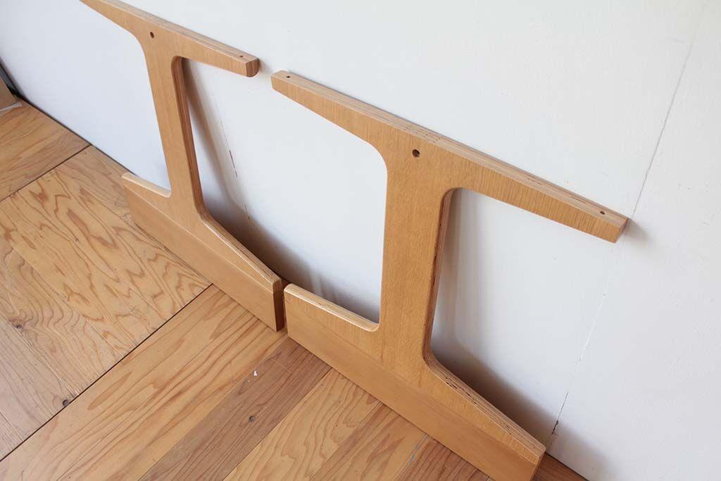 ダイニングテーブル脚のサイズアップリメイク 色合わせ
