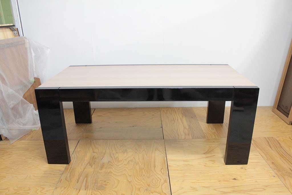 ダイニングテーブルをレストアとリサイズリメイク正面