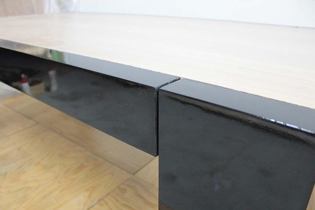 ダイニングテーブルをレストアとリサイズリメイク エナメル塗装
