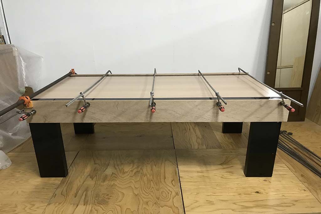 ダイニングテーブルをレストアとリサイズリメイク 分解後再組立