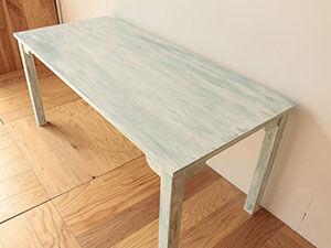 シャビー加工のカフェテーブルをオーダーメイド アイキャッチ