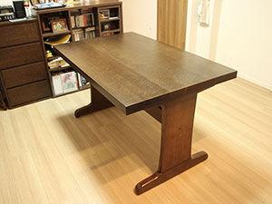 大きく重たいダイニングテーブルをリメイク アイキャッチ