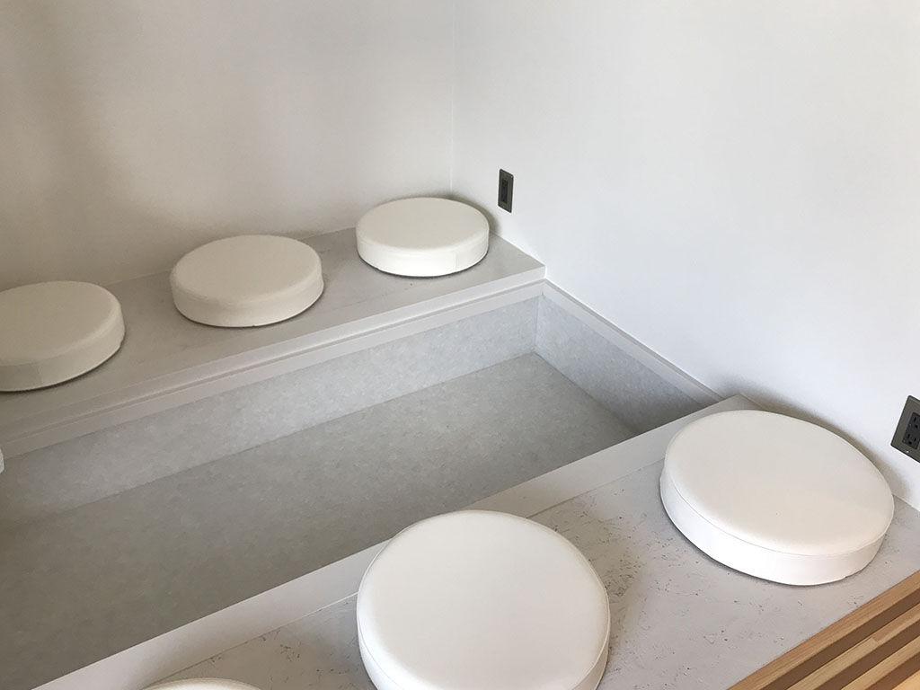 オーダーメイドテーブルの設置スペース