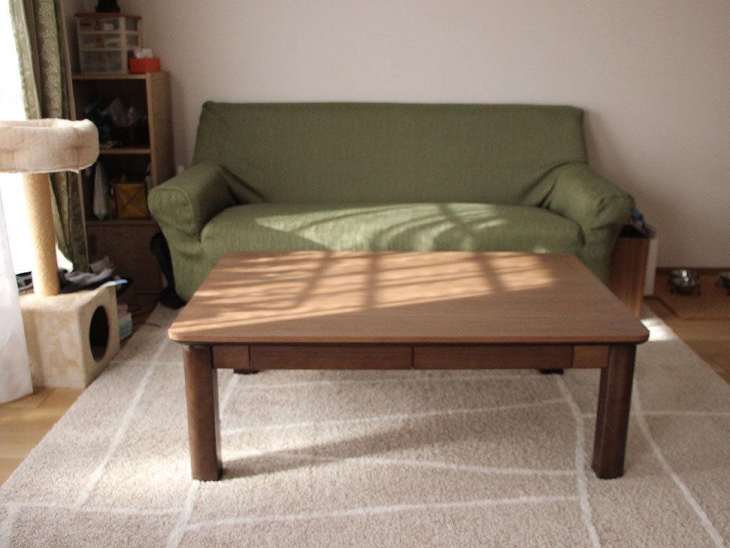 お客様宅に納品させていただいたこたつをリメイクしたテーブル