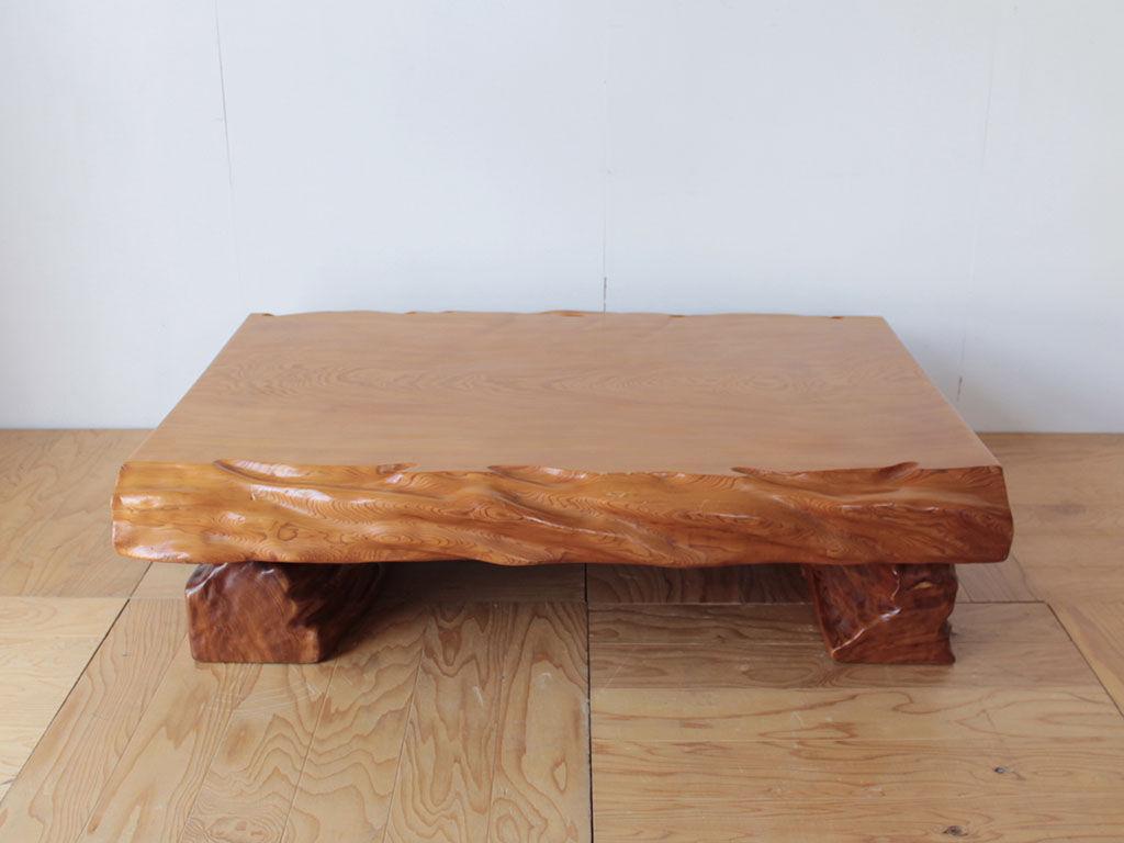リメイクのご相談をいただいた天板厚15cmの無垢一枚板の座卓