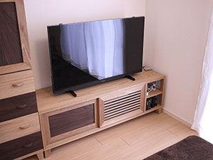 オーク×ウォールナットのテレビボードをオーダーメイド アイキャッチ