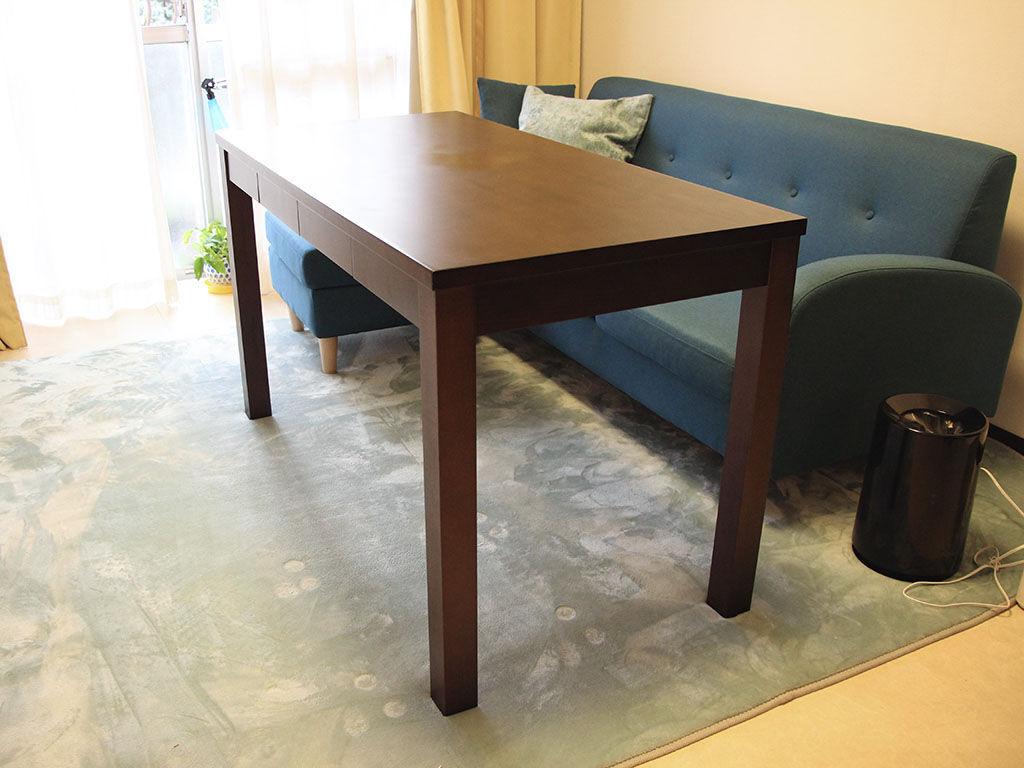 ローテーブルからダイニングテーブルにリメイク お客様宅納品写真