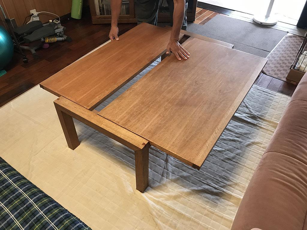 テーブルの使い方などをお客様にヒアリングしてリメイク方法を決定