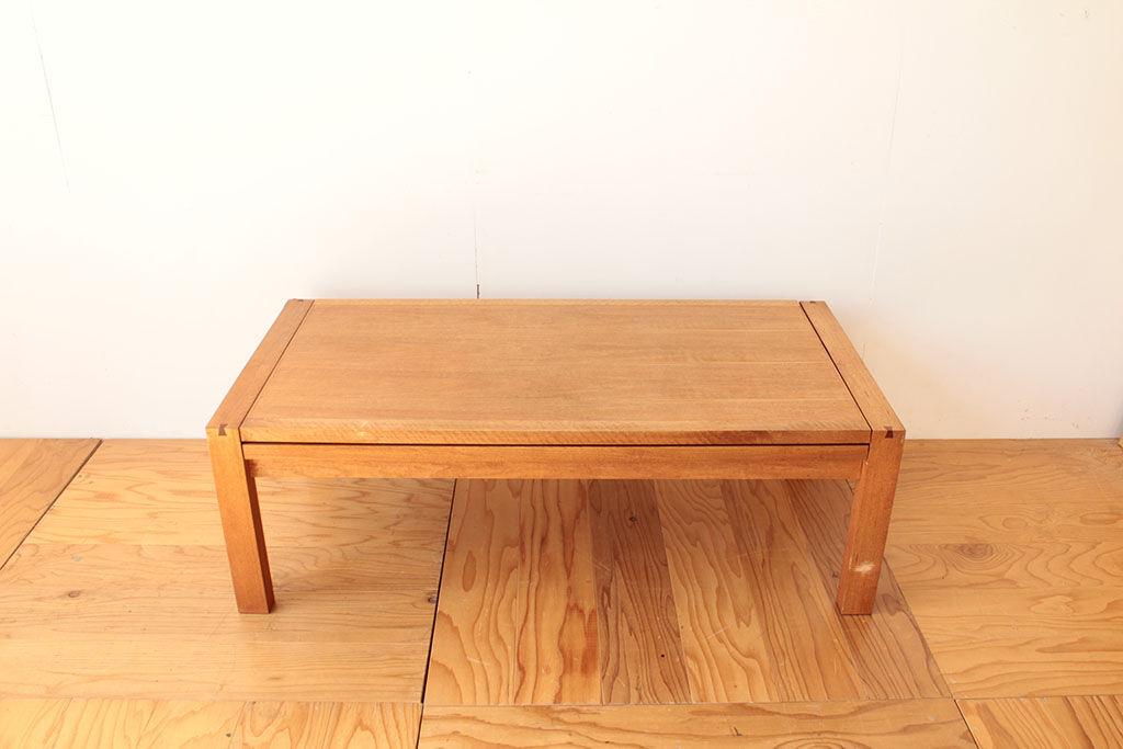 ダイニングテーブルとして使えるようにしたいとリメイクのご相談をいただいたローテーブル