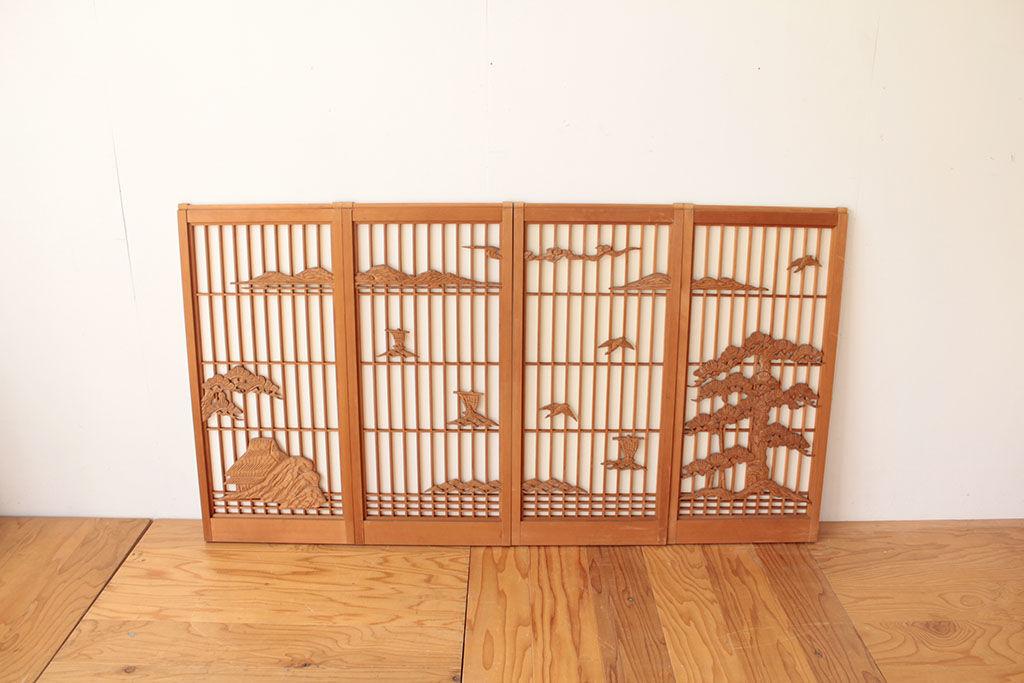 下駄箱の扉(引き戸)に使用する4枚の書院障子