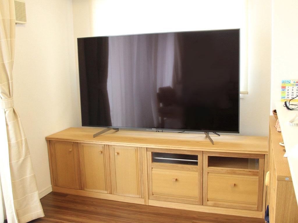 AV機器設置スペースのみアクリル窓のテレビボード