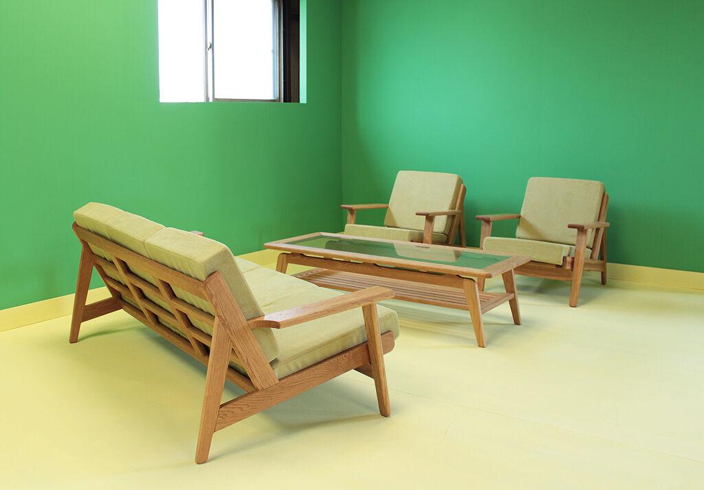 3シーターのソファと合わせてもちょうど良いリビングテーブル『CALM LivingTable1』
