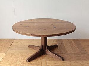 パインのちゃぶ台を1本脚のダイニングテーブルにリメイク アイキャッチ