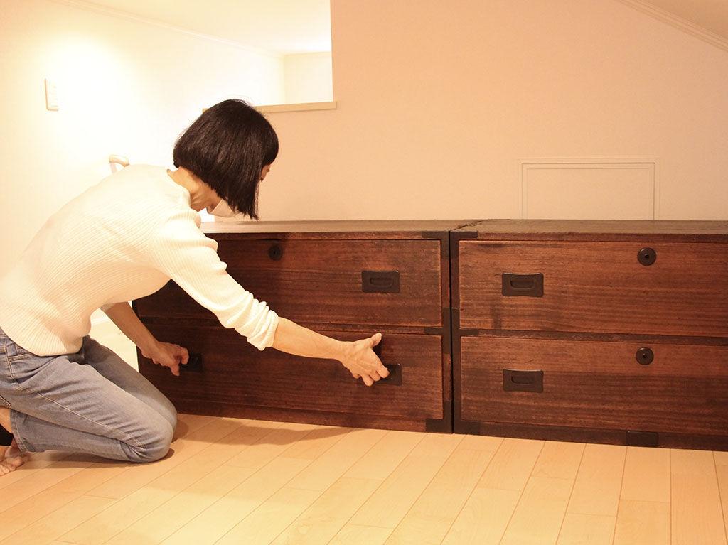 オーダーリメイク家具の納品の様子