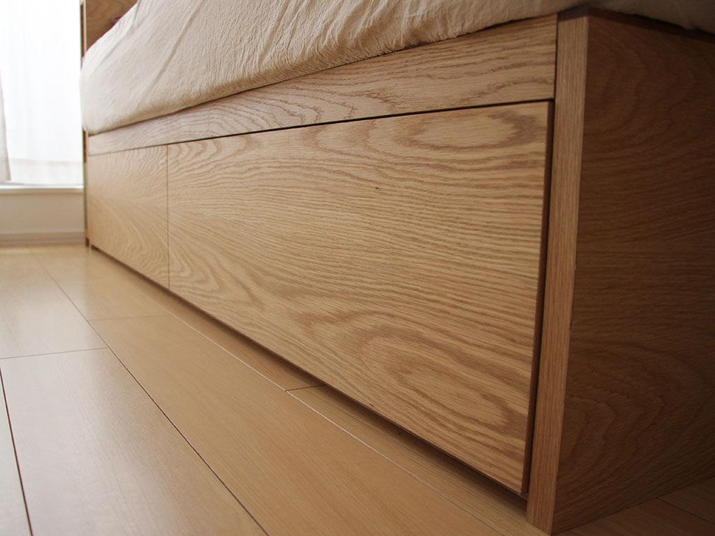 ベッド下の大容量引き出し収納