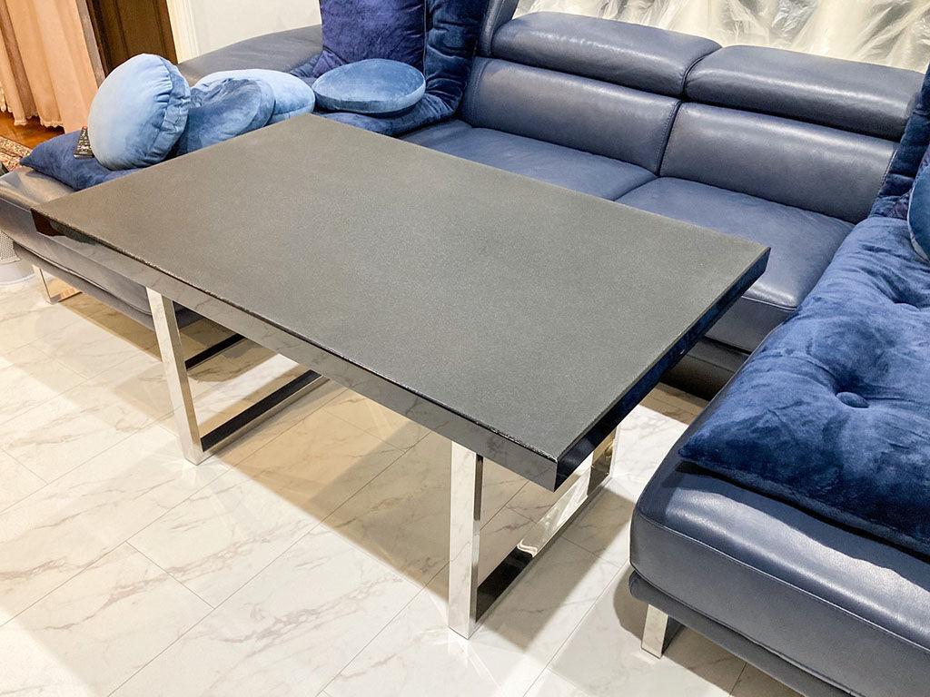 輪島塗りの座卓をリメイクしたテーブルの納品写真