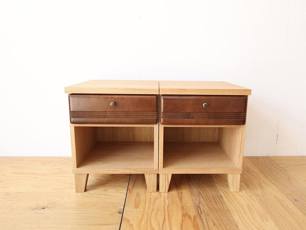 同様の仕様にて製作したナイトテーブル2台
