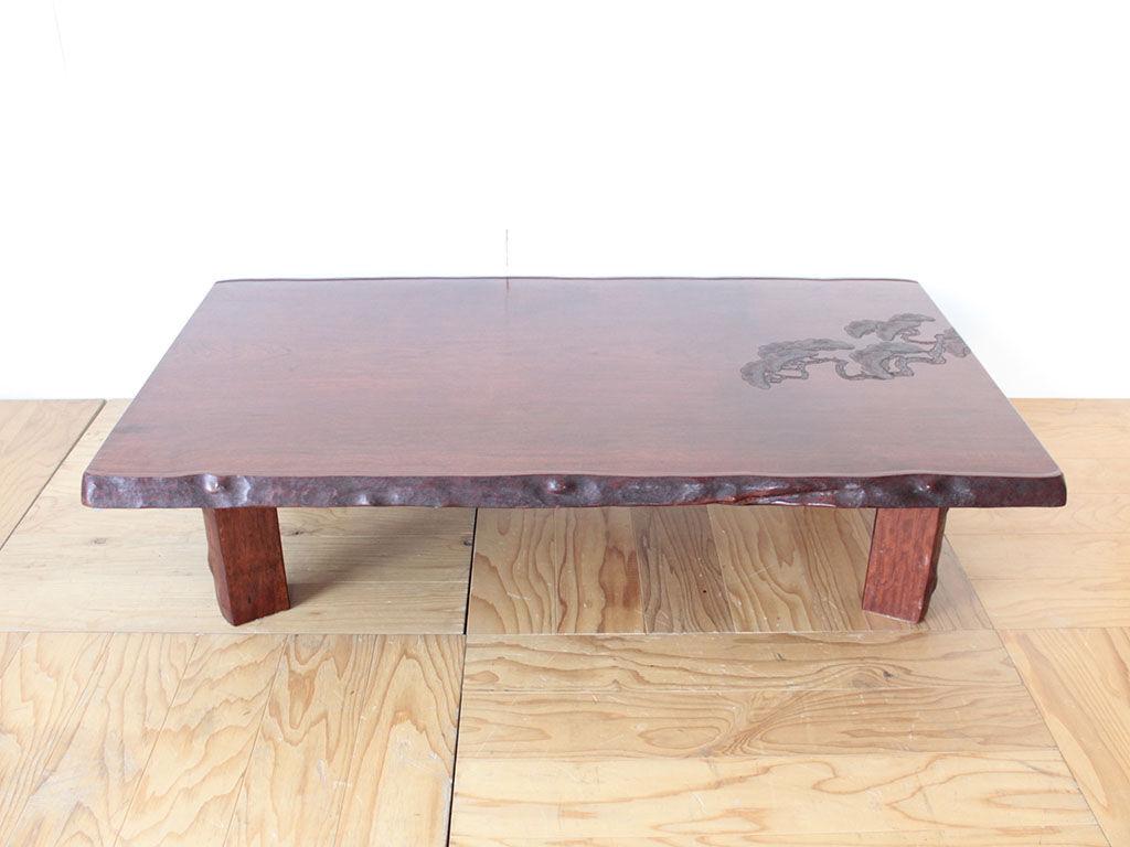 ダイニングテーブルへのリメイクをご依頼いただいた無垢一枚板の座卓
